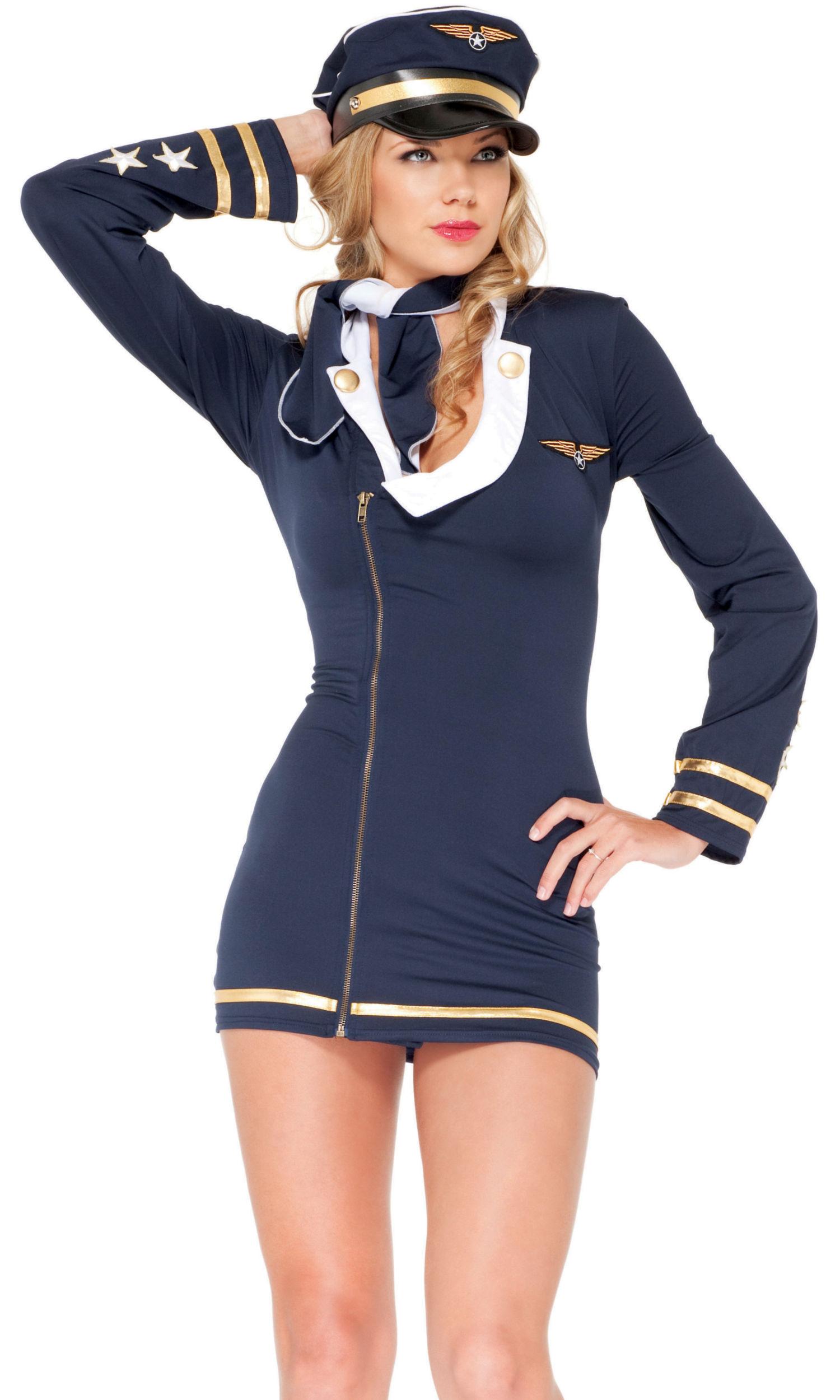 1bbbfa9824b Mile High Maiden Sexy Pilot Costume