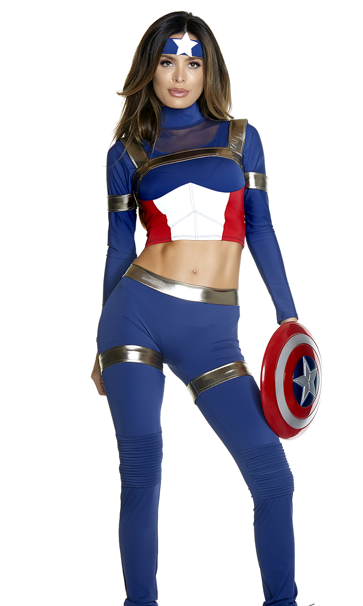Forplay Fine Fighter Sexy Comic Book Hero Costume