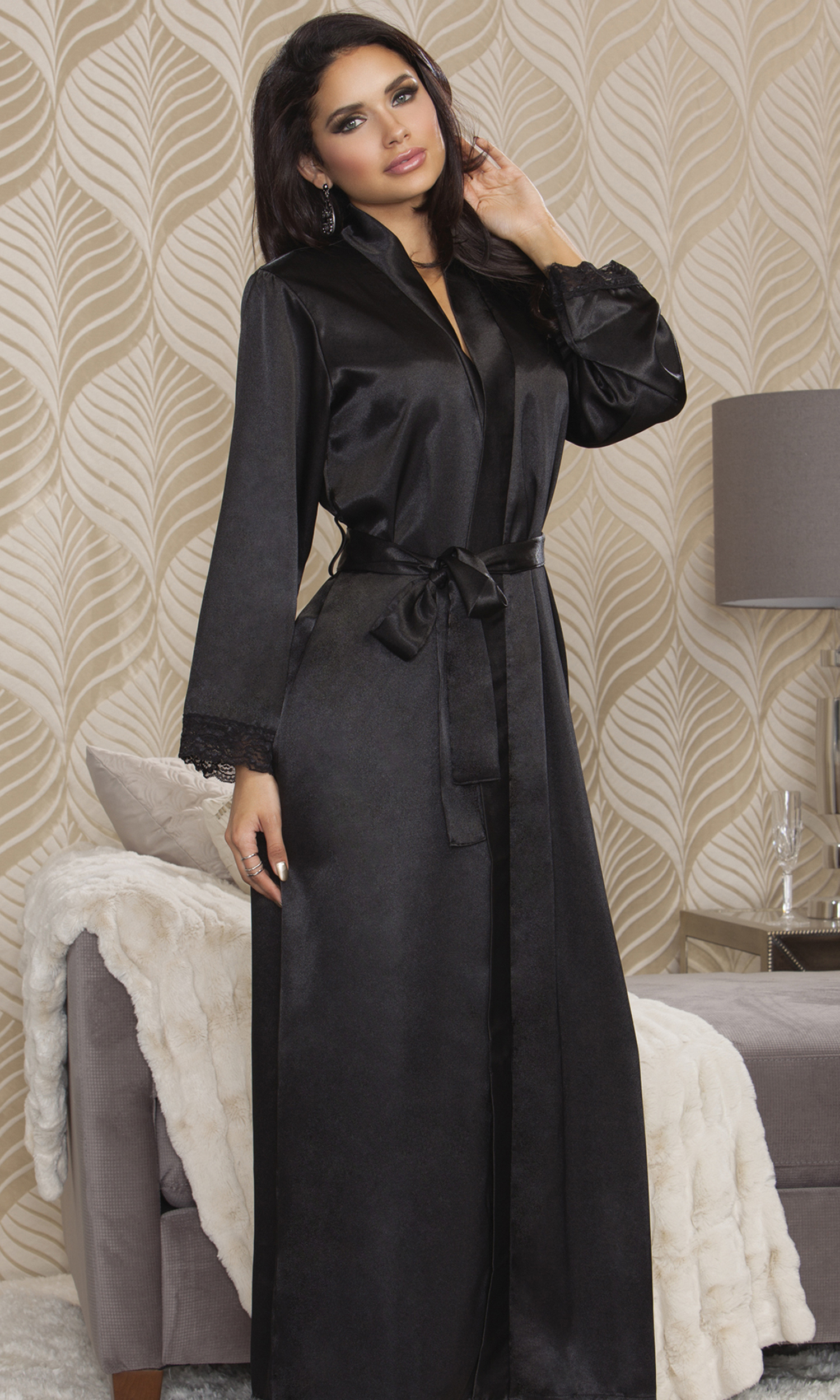 Long Satin Robe