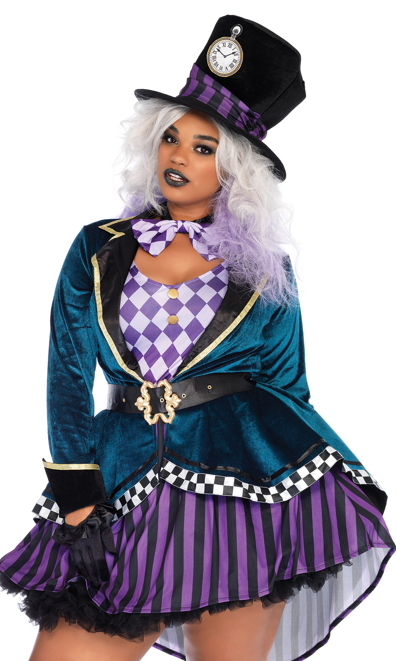 4pc Delightful Hatter Sexy Costume