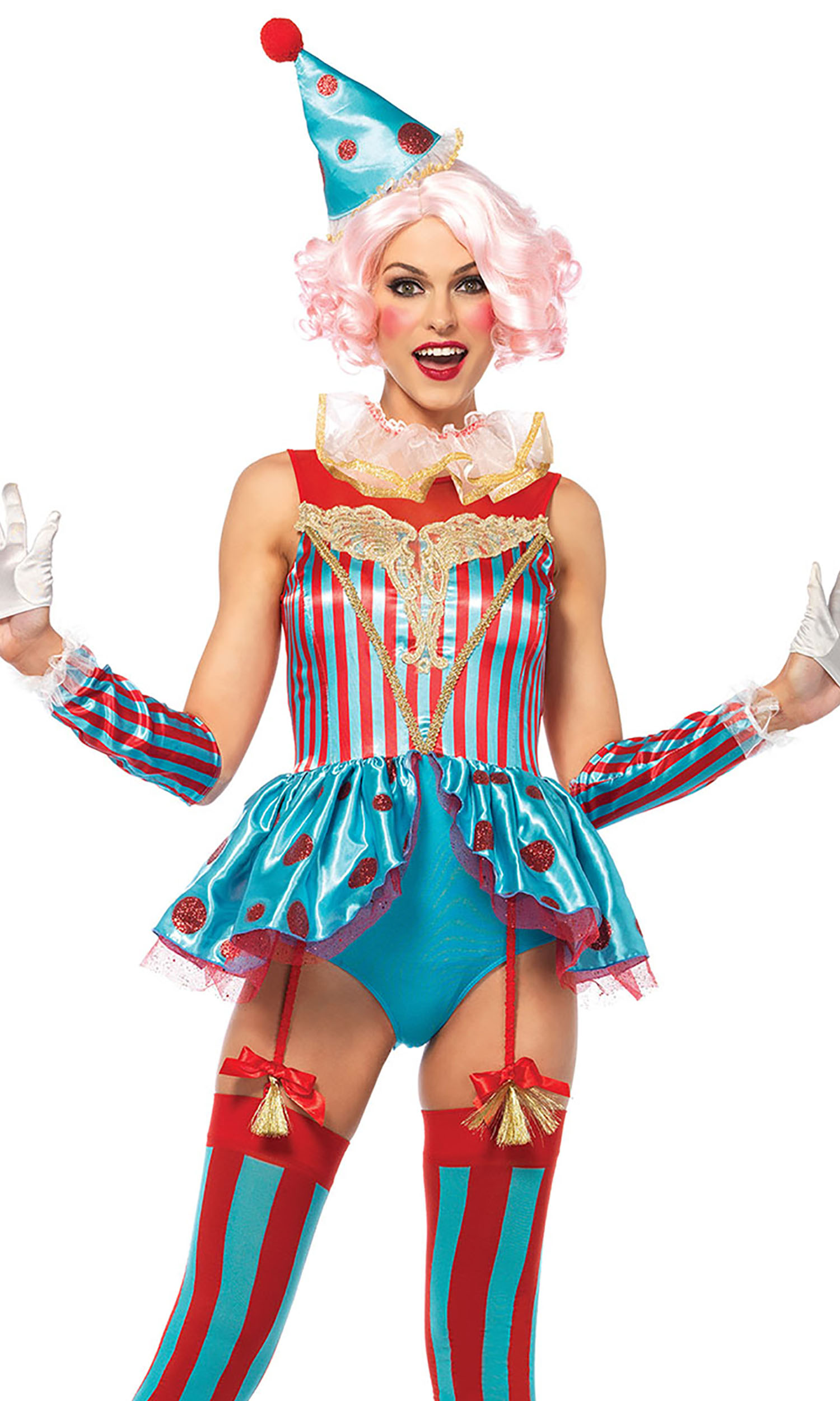 4 Pc. Circus Clown Sexy Costume