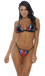 Rays of Shine Embellished Bikini Set
