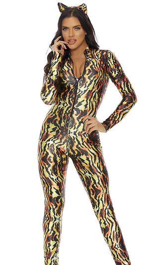 9fbc074d1a4 Seductive Stripes Sexy Tiger Costume