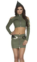 Sultry Soldier Sexy Costume