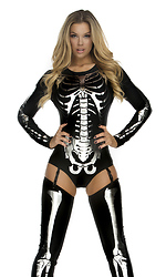 Snazzy Skeleton Sexy Costume