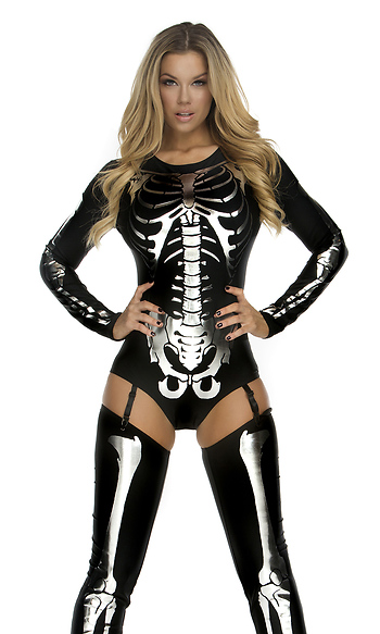 Forplay Snazzy Skeleton Sexy Costume