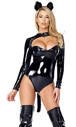Feline Fetish Sexy Black Cat Costume