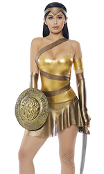 Golden Amazonian Hero Costume