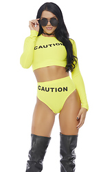 Without Caution 2pc. Sexy Costume Set