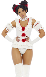 Let's Play a Game Sexy Movie Clown Character Costume