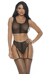 You a Vixen Zipfront Lingerie Set