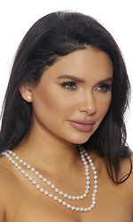 Faux Classic Pearl Necklace