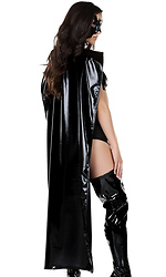 Full Length Metallic Cape with Velcro Closure