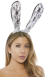 Two-Toned Lace Bunny Ear Headband