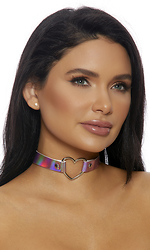 Heart To Please Hologram Choker