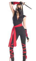 5 Piece Mortal Ninja Sexy Costume