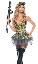 3 Piece Commando Sexy Costume