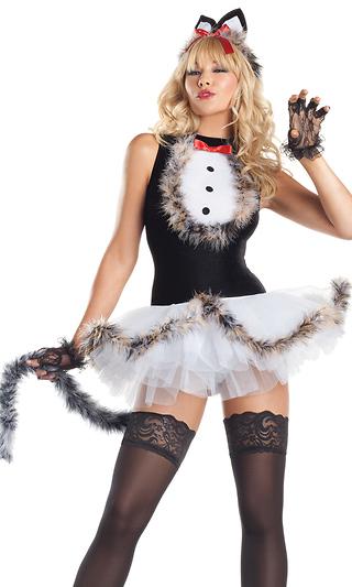 80f2750f0c 4 Piece Kissable Kitty Kat Sexy Costume