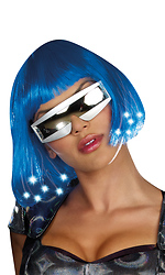 Light-Up Blue Wig