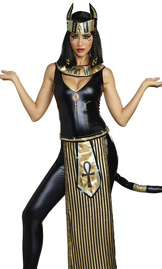 05ecdce99c Egyptian Kitty Of De Nile Sexy Costume Jumpsuit
