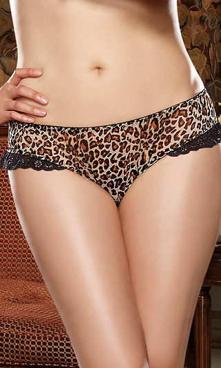 3e0680fa50006 Plus Size Hellcat Leopard Print Open Back Panty