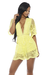 Meet Up Lace To Lace Plunging Romper