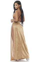 Good As Gold Surplice Gown