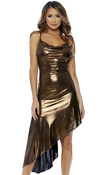 Got the Bronze Midi Dress