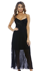 Pleat Yourself Sleeveless Maxi Dress