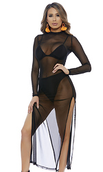 Imma Mock You Out Mesh Midi Dress