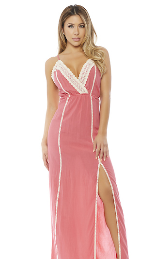 Here For Coral Support Maxi Dress