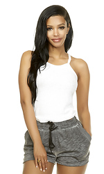 Plain and Simple Ribbed Crop Top