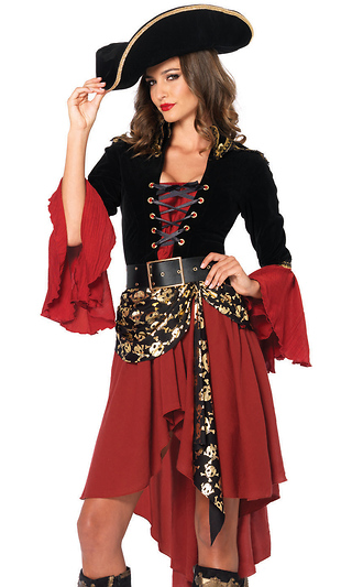 2Pc. Cruel Seas Captain Sexy Pirate Costume a09d24845fe0