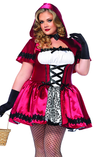 Plus Size 2Pc. Gothic Red Riding Hood Sexy Storybook Costume 044ea8a0f