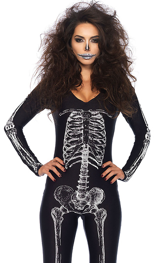 20d6dfb42c2 X-Ray Skeleton Catsuit Sexy Women s Costume