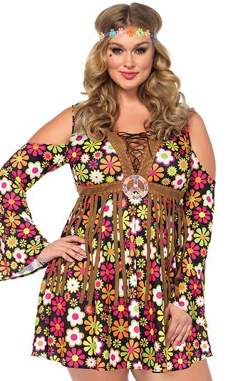 81c2407d2 Plus Size 2pc.Starflower Hippie Sexy Retro Costume ...