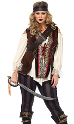 4 Pc. Captain Heart Sexy Pirate Costume
