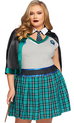 Plus Size 2pc. Sinister Spellcaster Sexy Character Costume