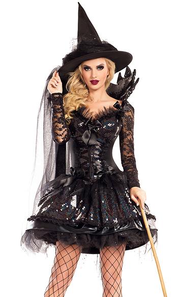 Midnight Black Witch Shaper Costume