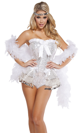 86ea677234 2Pc. Flirty Flapper Sexy Costume
