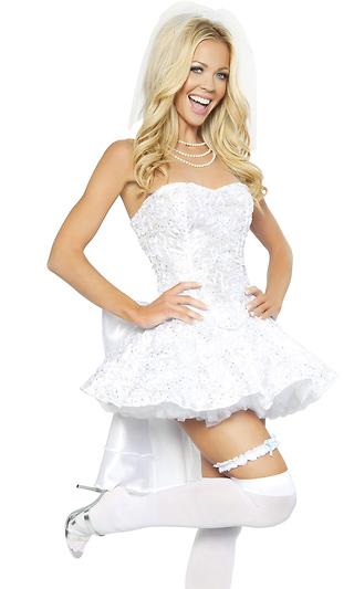 3f98a3dad2 4Pc. Fantasy Bride Sexy Costume
