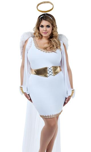 8ac4a01976694 Plus Heavenly Honey Sexy Angel Costume
