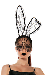 Lace Bunny Mask