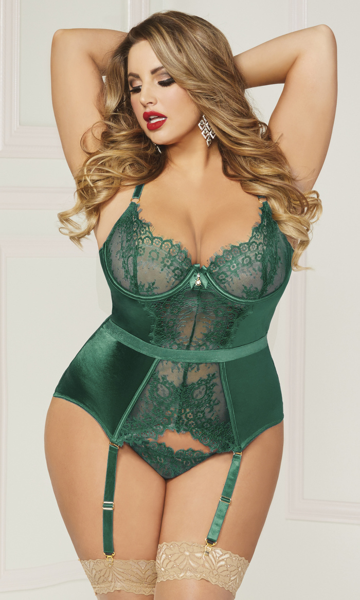 Gorgeously Green Bustier Set hot sale